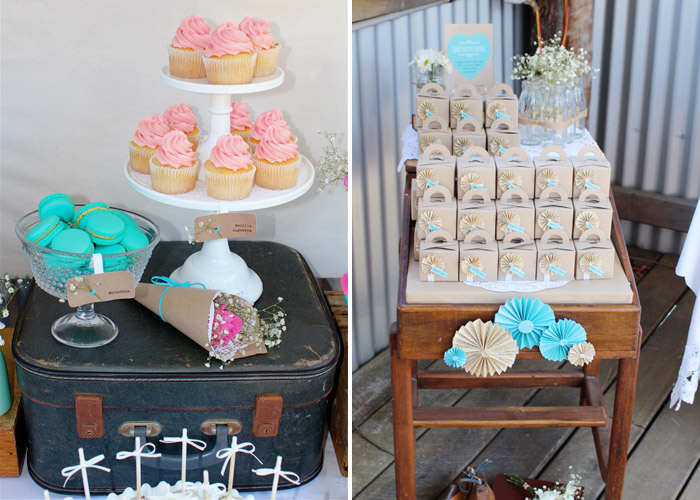 Rustic Vintage Dessert Table Engagement party