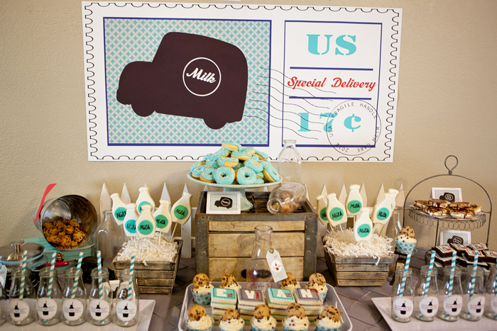 Kids party ideas Milk and Cookies