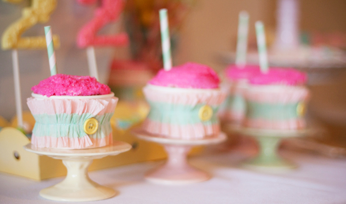 Carousel Pastel Girls Party cupcakes