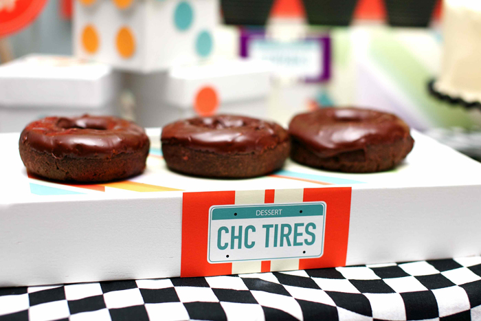 Vintage Race Car Birthday Party Chocolate Tires