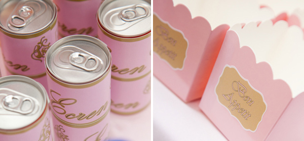Pink Ballerina Party for girls favor boxes