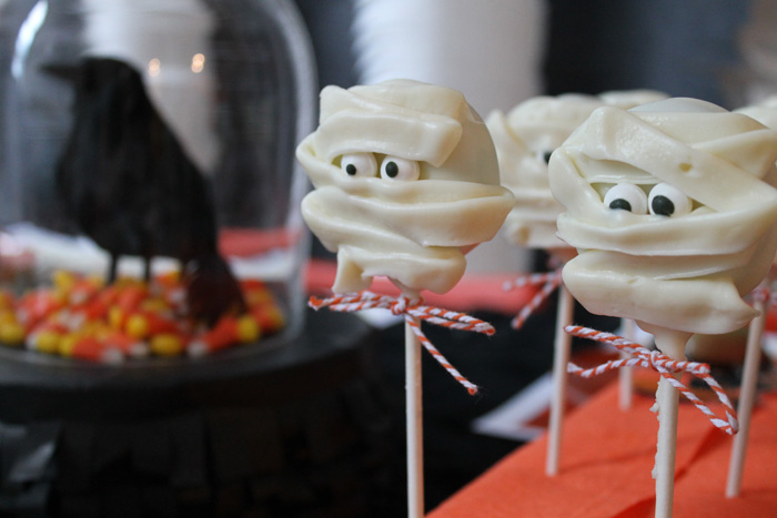 Halloween Party Ideas White Chocolate Mummies