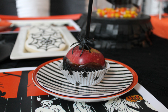 Halloween Party Ideas Chocolate covered apple