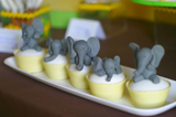 Yellow And Gray Elephant Guest Dessert Feature