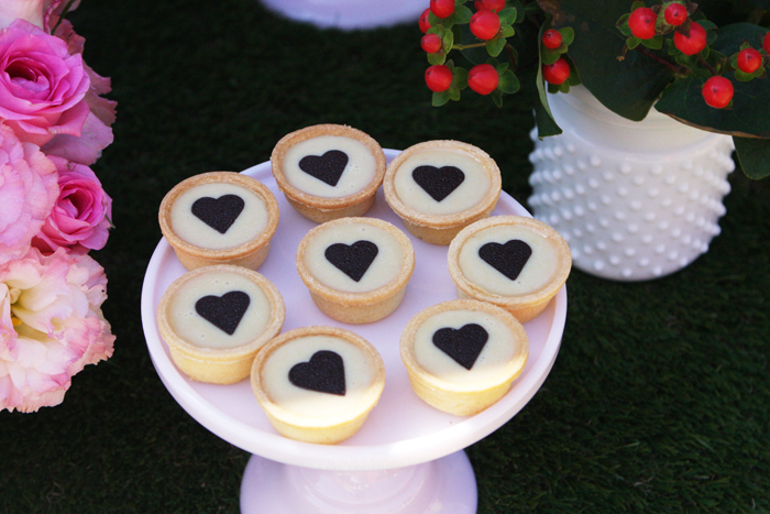 Vanilla Tarts with Hearts for Woodland Party