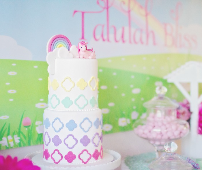 My Little Pony Party for Girls | Rainbow Cake