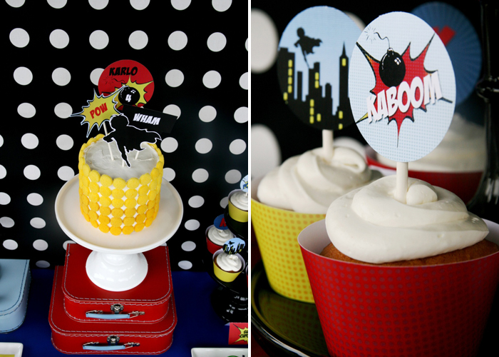 Superhero Birthday Party for Boys | Superhero Cake