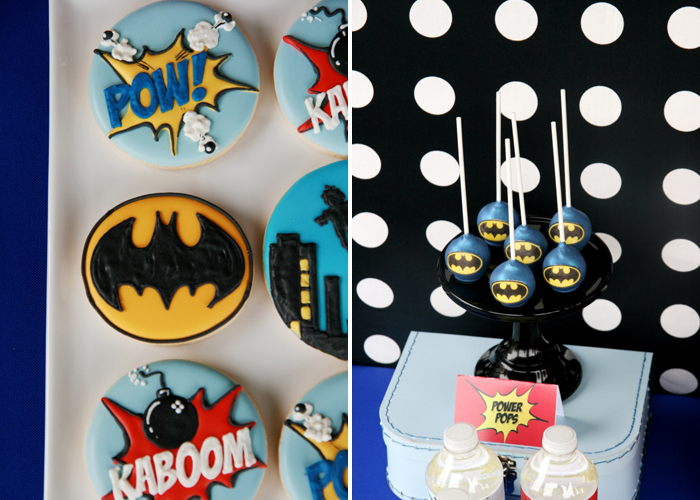 Superhero Birthday Party for Boys | Superhero Cake Pops