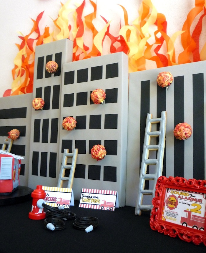 Fireman Party | Cake Pop Display