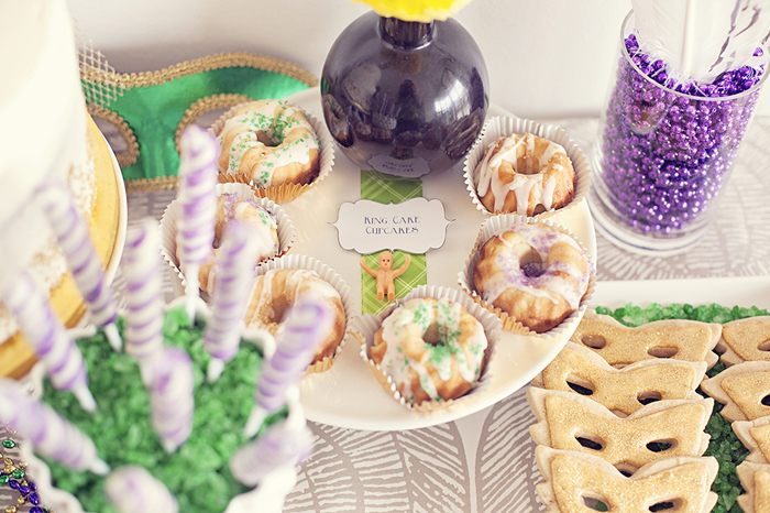 Mardi Gras Inspired Bridal Shower | Donuts