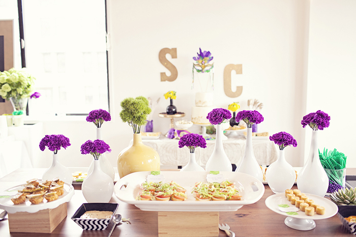 Mardi Gras Inspired Bridal Shower
