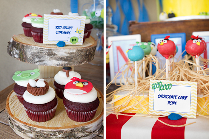 Angry Birds Birthday Party | Cupcakes