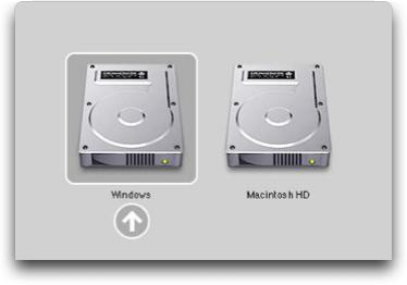 Avvio di BootCamp su Mac