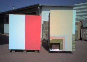 Indagini su manufatto con coefficiente di assorbimento solare medio, chiaro e con struttura in lana di roccia e tasselli senza rondella 04/05/2012