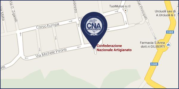 Mappa sede CNA Avellino