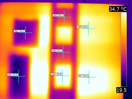 Immagine termica prodotta con termocamera radiometrica