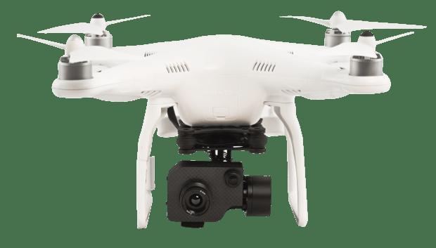 Drone Phantom 2 con termocamera FLIR TAU 2