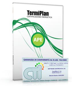 TermiPlan-APE Software Redazione e Stampa Attestato di Prestazione Energetica