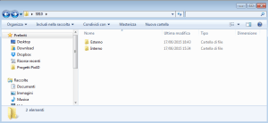 Example of Folder organization on a PC