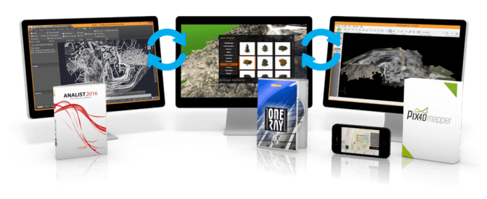 OneRay-RT, Pix4Dmapper ed Analist 2016 CLOUD