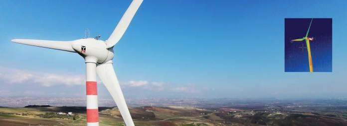 Ispezioni termografiche a turbine eoliche con drone Matrice 100