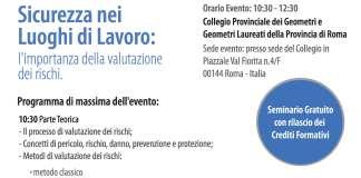 Evento Sicurezza Edilizia Geometri Roma