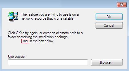 msi installer problem