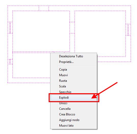 TermiPlan comando Esplodi dwg/dxf