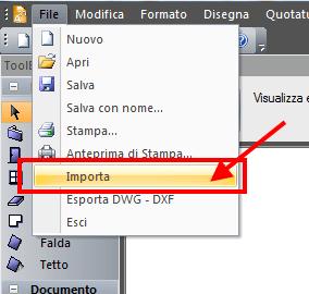 TermiPlan comando File - Importa