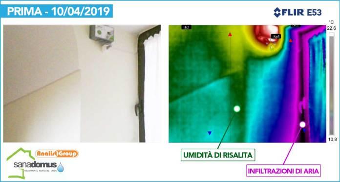 Rilievo umidità di risalita con termocamera FLIR