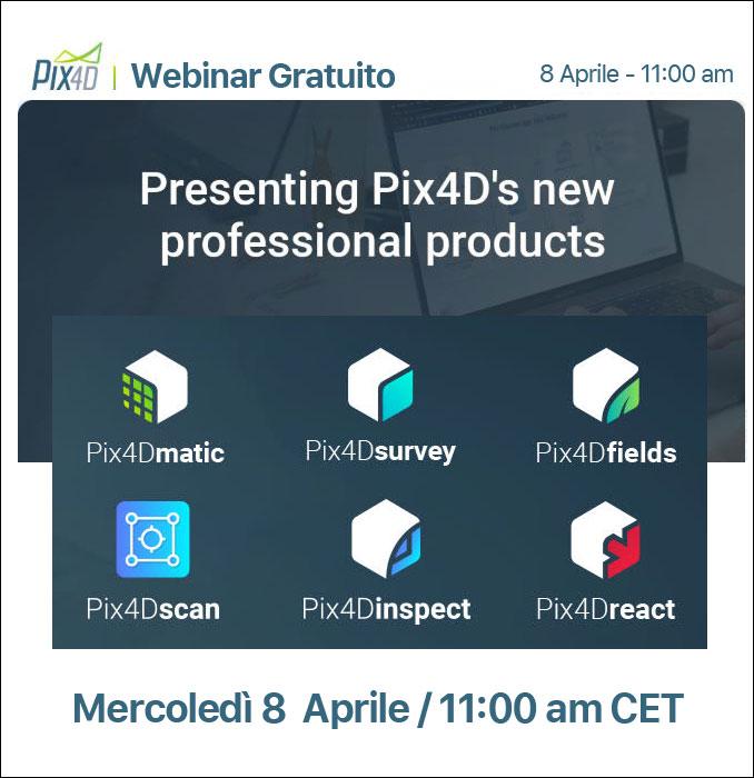 Pix4D: presentazione dei nuovi prodotti professionali