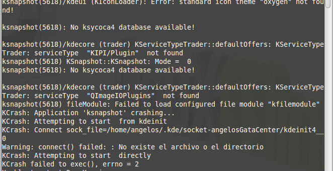 "Resolver el error Error: standard icon theme ""oxygen"" not found! en Linux"