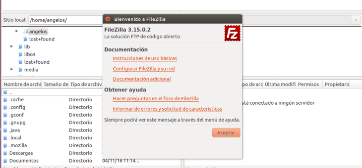Instalar FTP Filezilla en Linux