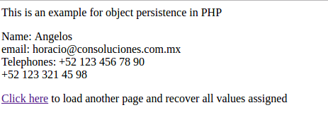 Persistencia de objetos para PHP