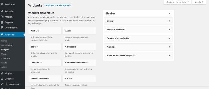 Etiquetas de WordPress