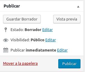 Publicar en WordPress
