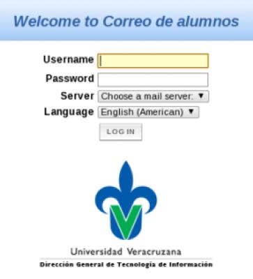 Correo de Universidad Veracruzana