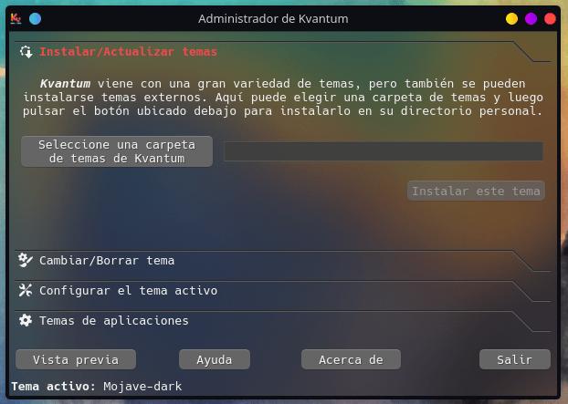 Kvantum manager