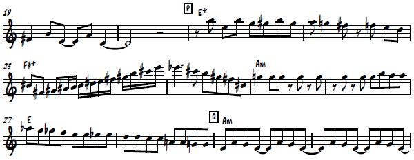 Masato Honda's Alto Saxophone Solo from
