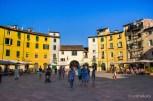 Die Piazza in Lucca - nachher