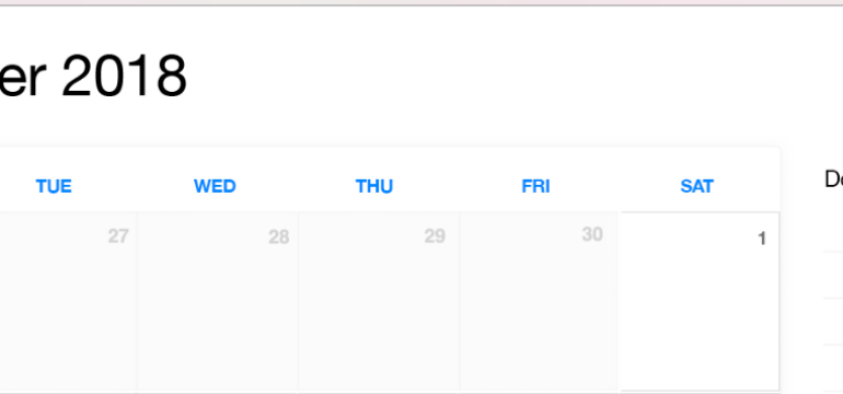 December 2018 Printable Calendar