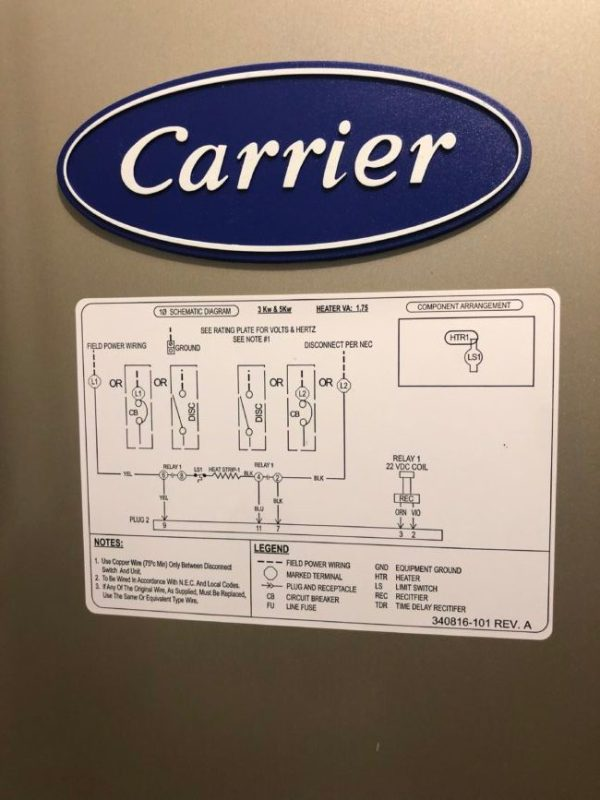 Installing New Carrier Air Handler in Niles IL