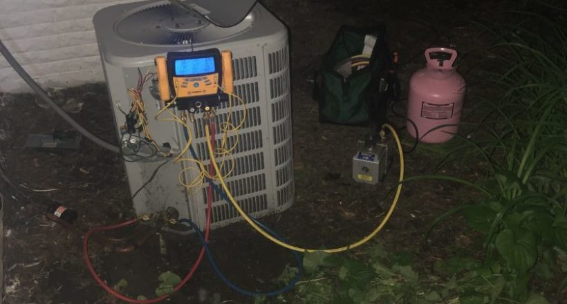 Emergency Service Call to Repair AC Unit - Mount Prospect May 29th 2019 at Night