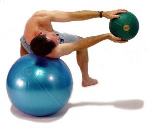 Cyclone Ball gives you an ab workout with a twist