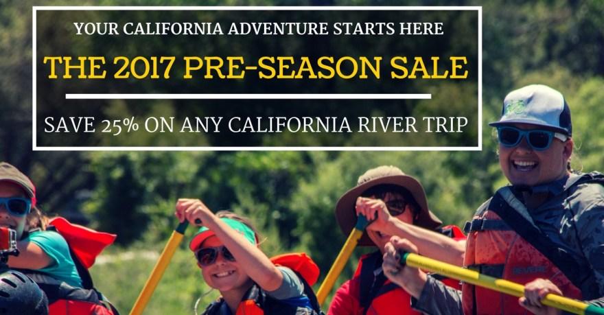2017 Pre-Season Sale: Go Rafting and Save Big!