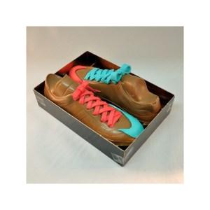 Par de botas de chocolate. Un regalo original.