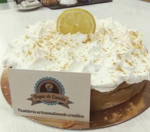Tarta de limón y jengibre Vegana y sin Lactosa