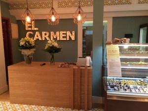 Interior de Pastelería El Carmen