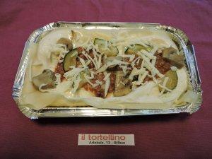 Lasagna de Carne con champiñones y calabacín