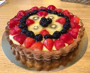 Tarta de Fruta fresca con crema
